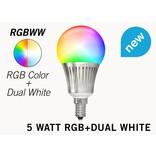 Mi·Light Mi-Light E14 RGB+Dual White 5 Watt Wi-Fi LED lampen. Complete set met Wifi Box en Remote!