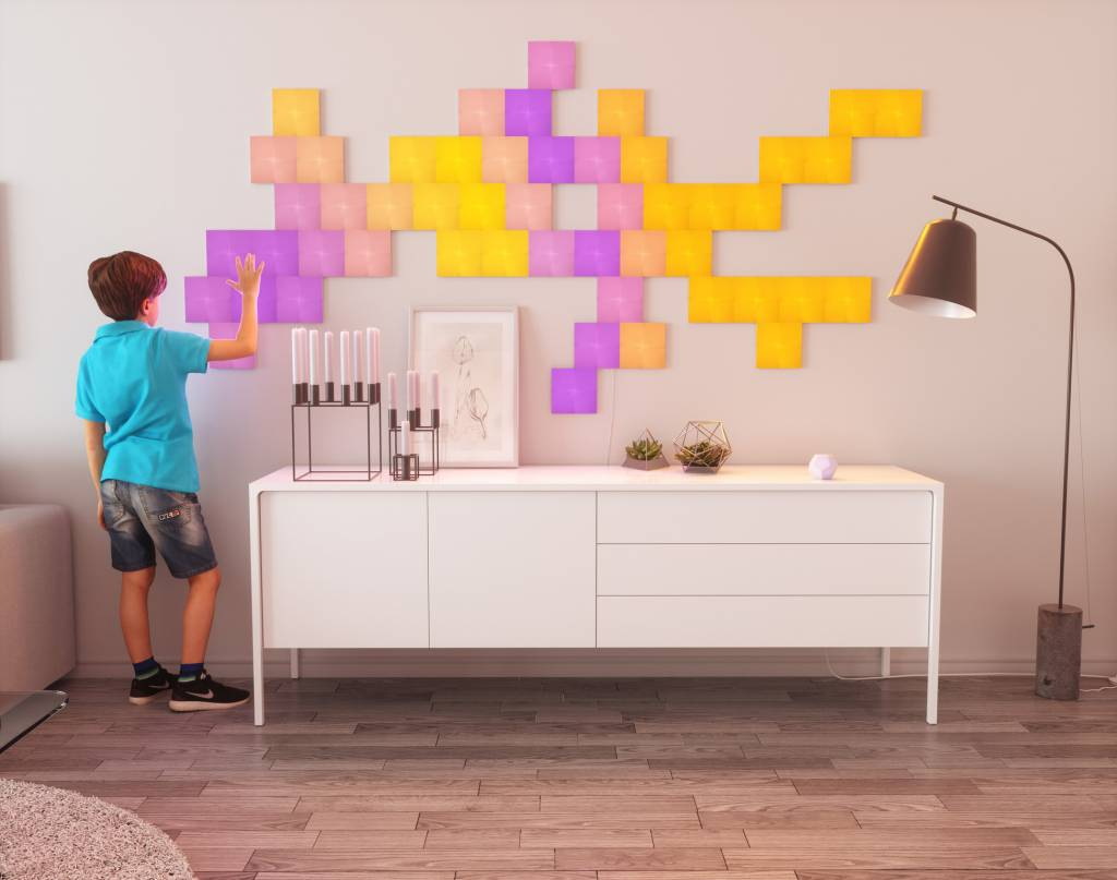 Nanoleaf Nanoleaf Canvas Smarter kit Rhythm  met 9 led panelen en APP