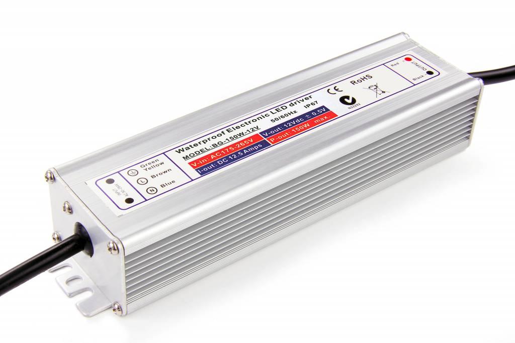 Waterdichte Schakelende Voeding DC 12 Volt 150 Watt 12,5 Ampère IP67
