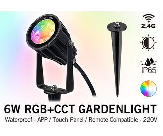 Mi-light 6W RGBWW 220V LED  Prikspot Kleur+Dual Wit