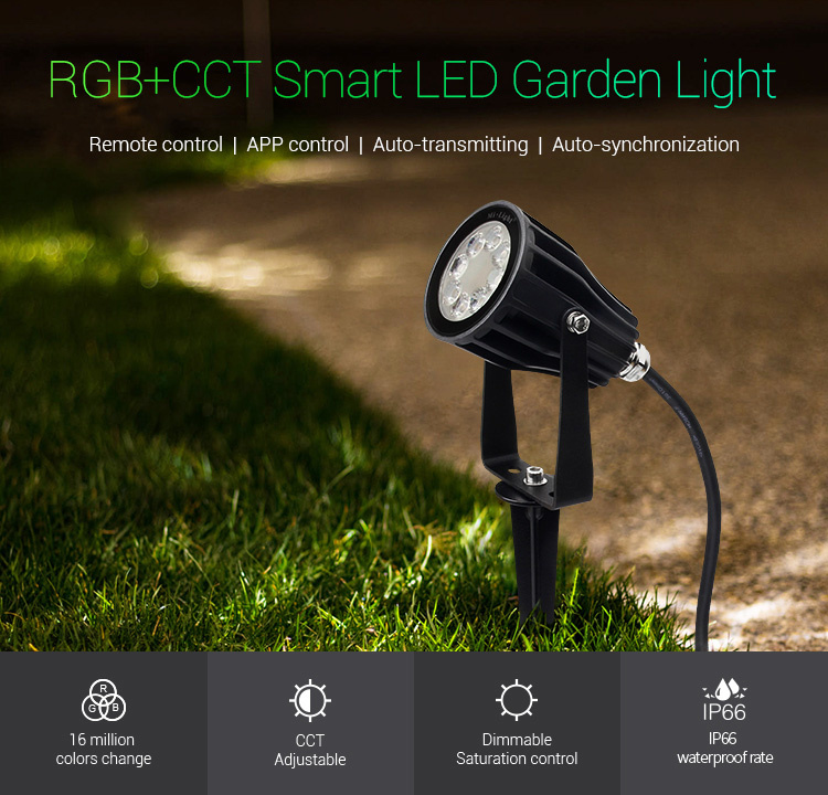Mi·Light Mi-light 6W RGBWW 220V LED Tuinspot  Kleur+Dual Wit