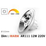 Dim2Warm 12W AR111 GU10 LED spot 2700K tot 1800K