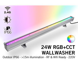 Mi·Light Mi-Light Wall Washer RGBWW Kleur + Dual White - IP66 - 24W - 220V - 100CM