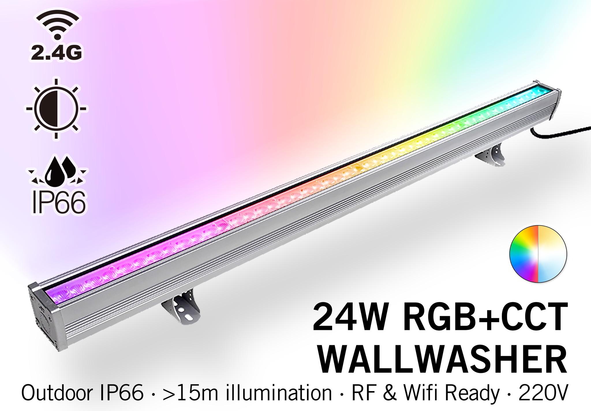Mi·Light Mi-Light Wall Washer RGBWW Kleur + Dual White - IP66 - 24W - 220V - 100CM