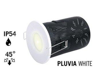 GU10 LED Inbouwspot Armatuur PLUVIA. IP54 Spatwaterdicht. Mat Wit