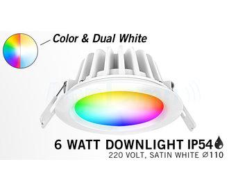 Mi-Light 6W RGBWW Kleur + Dual White LED Inbouwspot Waterdicht IP54