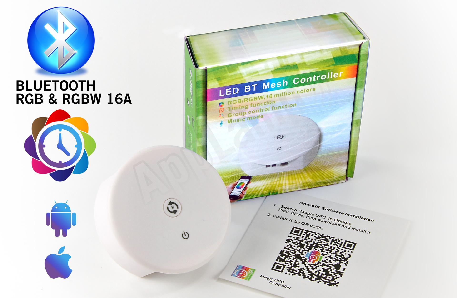 LED Magical Bluetooth RGB & RGBW controller met tijdklok timers!