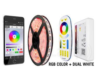Mi·Light Wifi set PRIME Ledstrip RGB Color+Dual White 60 LED/m, 5 IN 1 - 24Volt