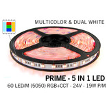Mi·Light PRIME Ledstrip RGB Color+Dual White 60 LED/m, 5 IN 1. Via wifi en RF te bedienen (Uitbreiding)