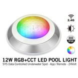 Mi·Light IP68 Zwembad LED onderwaterlamp 12W Kleur+Dual Wit RGB+CCT 24V