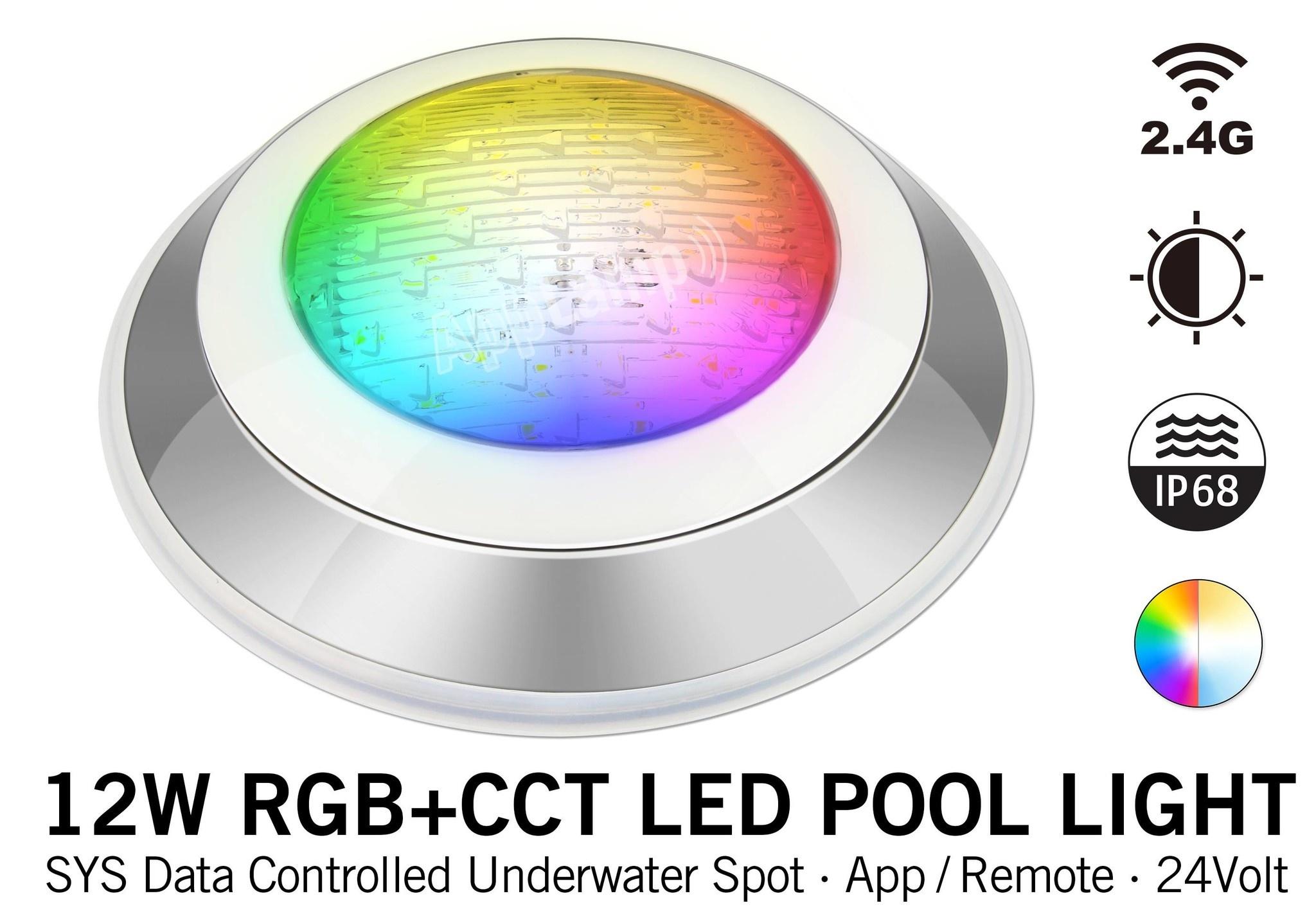 Mi·Light IP68 Zwembad LED onderwaterlamp 12W Kleur+Dual Wit RGB+CCT 24V