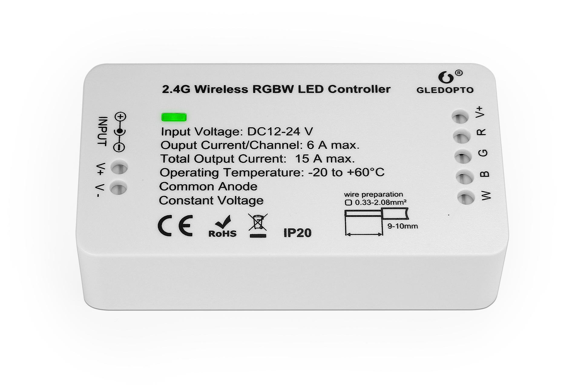 RGBW Gledopto Zigbee Controller GL-C-007 | 12-24 Volt 15 Ampère