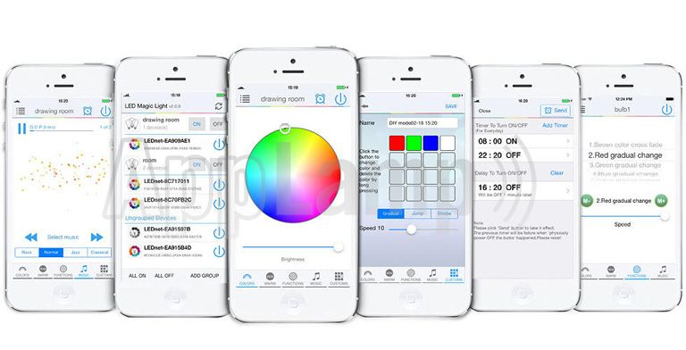 LED Magical Wi-Fi Controller voor RGB, RGBW, RGBWW, CCT en single color strips met tijdklok timers!