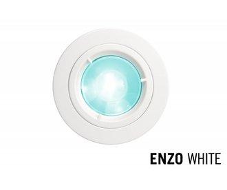 GU10 LED Inbouwspot Armatuur ENZO. Satijn Wit. Rond Ø81mm