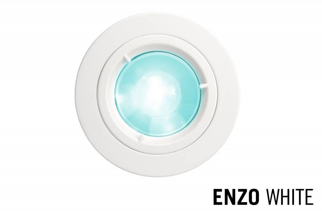Mi�Light GU10 LED Inbouwspot Armatuur ENZO. Satijn Wit. Rond �81mm