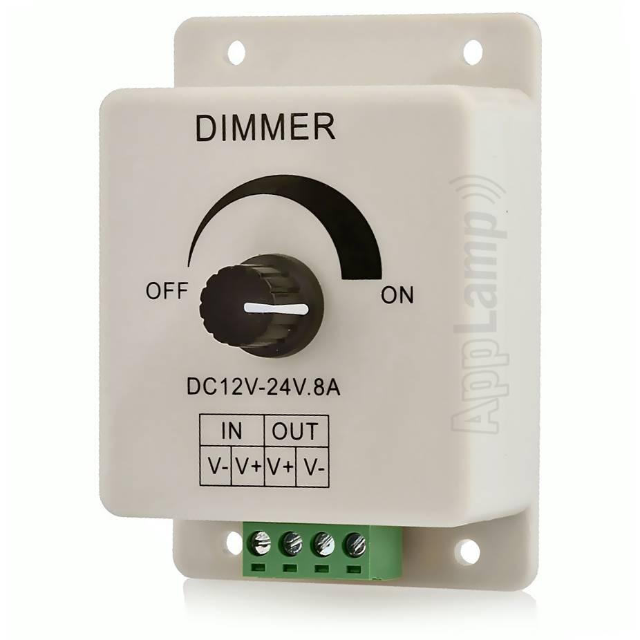 Opbouw Lijndimmer met Draaiknop | 12-24 Volt 8 Ampère