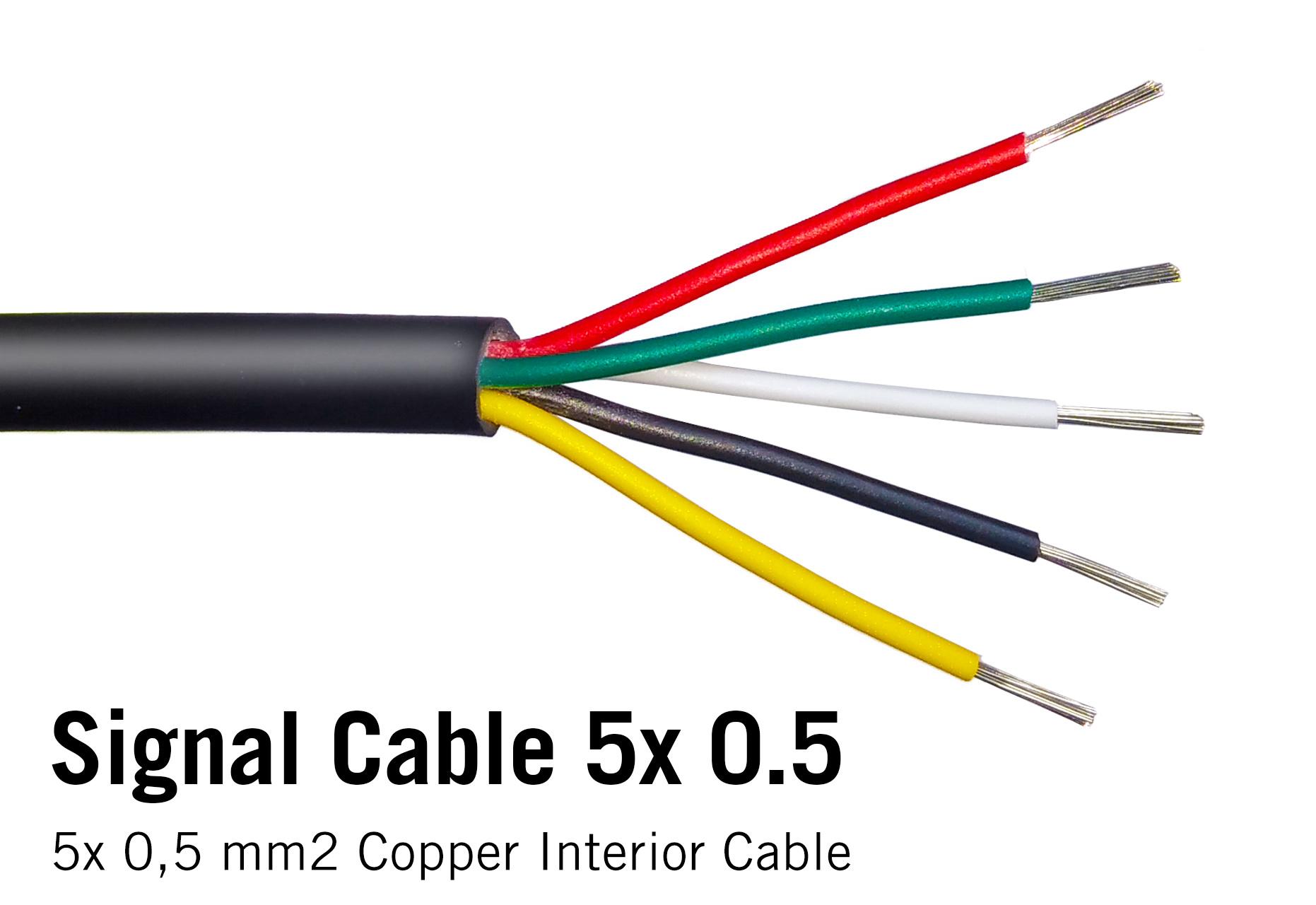 Ronde kabel 5x 0.5mm2  PVC