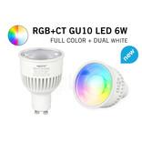 Mi·Light Mi-Light 6W RGBWW Kleur + Dual White Dimbaar GU10 LED Spot 220V