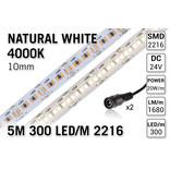 AppLamp ProLine PRO LINE 4000K Neutraal Wit Led Strip | 5m 300 Leds pm Type 2216 24V Losse Strip