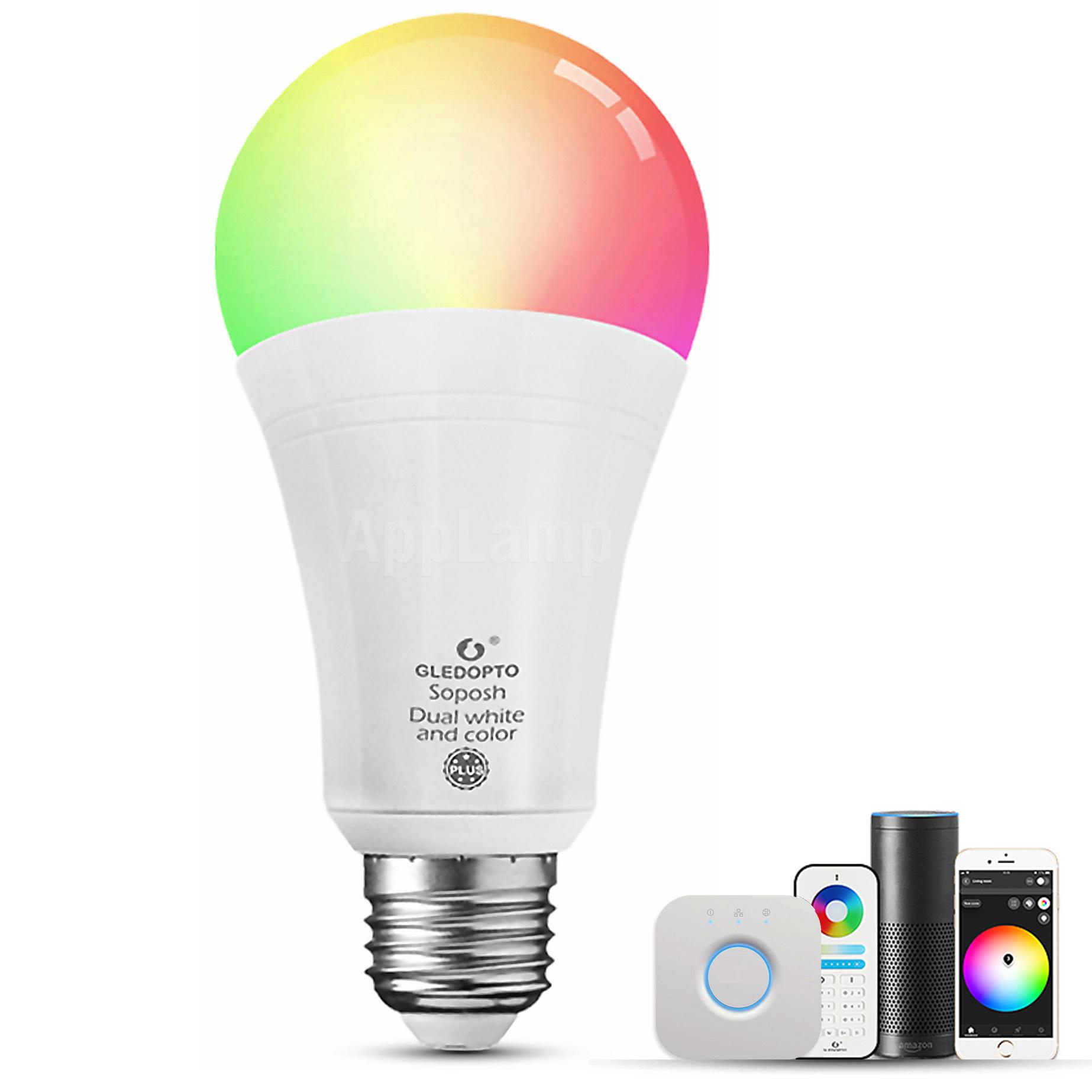 GLEDOPTO Zigbee RGB+CCT E27 Lamp | 12W 230V | GL-B008ZS