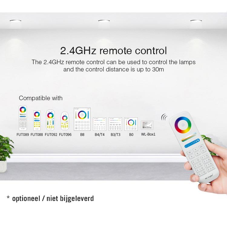 Mi·Light IP67 Waterdichte WiFi LEDstrip Controller | 12~24V 20A | Optioneel met afstandsbediening |  WL5-WP