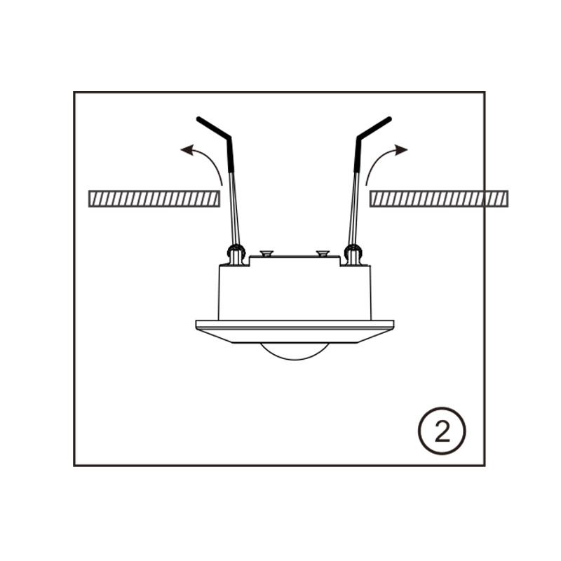 230 Volt inbouw PIR bewegingssensor 1000W   10 sec tot 7 min   10m bereik