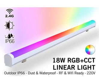 Mi·Light Waterdichte RGB+Dual Wit Lichtbalk | 18W  230V 100CM