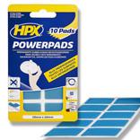 HPX 10 stuks Extra Sterke POWERPADS | 20mm x 40mm | semi-transparant - PA2040