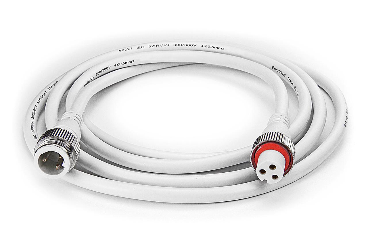 Dual White waterdichte verlengkabel 2 meter, 3-pin, IP68