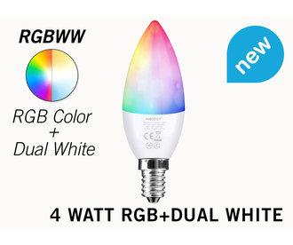 Mi·Light Miboxer / Mi-Light Kaarslamp 4W RGB + Dual White E14 Wifi LED Lamp
