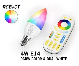 Mi·Light Mi-Light RGBWW E14 4W LED KaarsLamp Set met Afstandsbediening