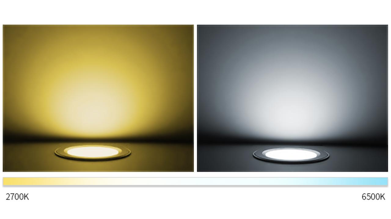 Mi·Light LED Inbouwspot Mi-Light 9W RGBWW Kleur + Dual White 220V. Satijn Wit ⌀138mm