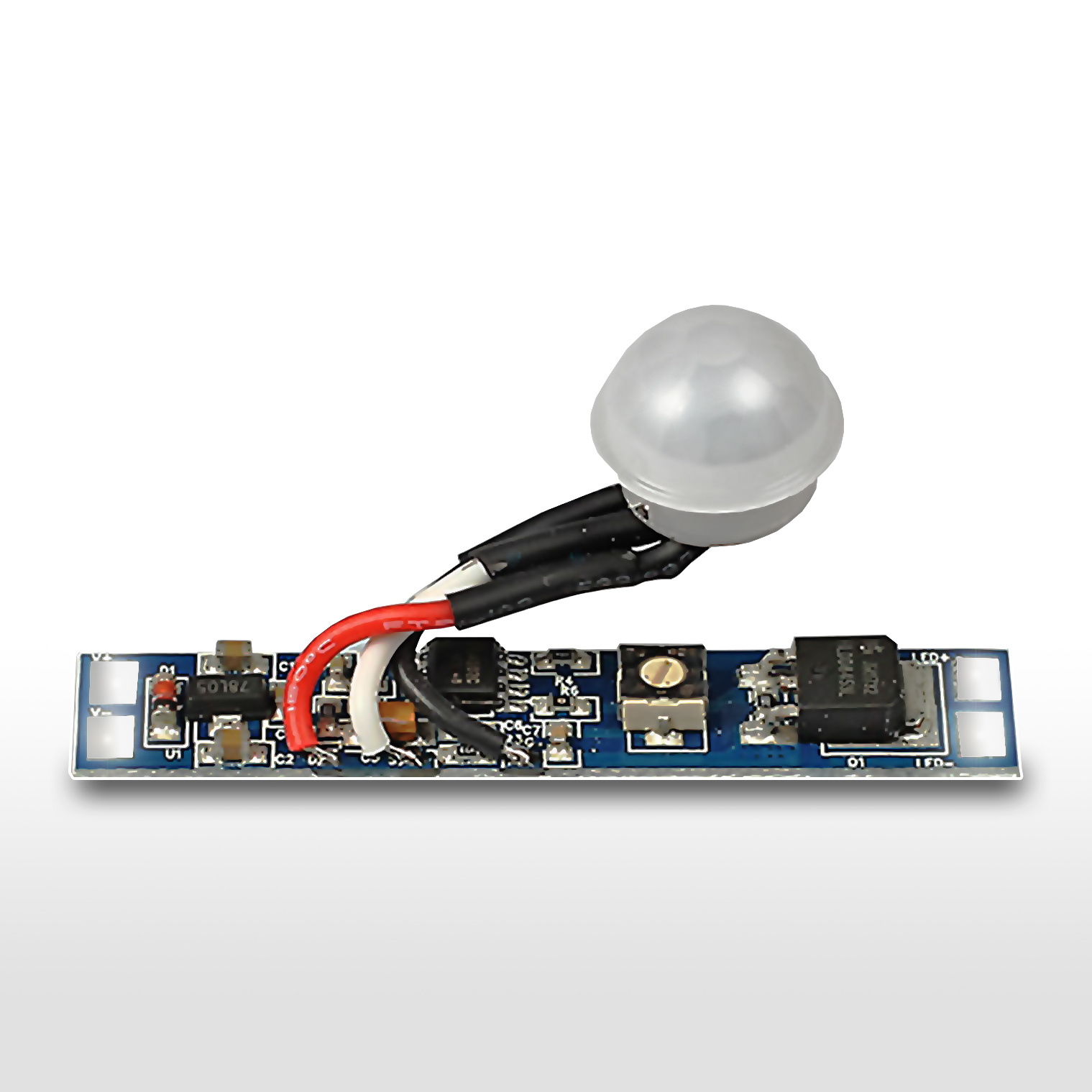 LED PIR bewegingssensor <=2m | 6~70s | 8A 12V-24V | 10x51mm