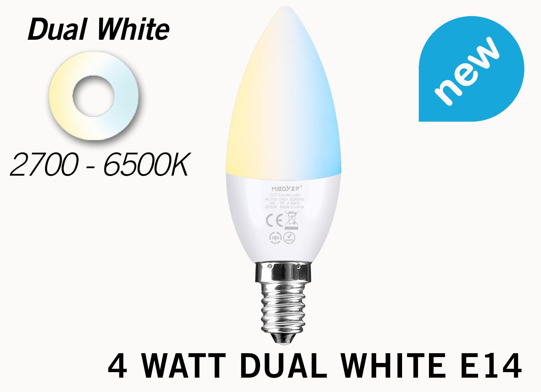 Mi·Light Miboxer / Mi-Light Kaarslamp 4W Dual White E14 Wifi LED Lamp