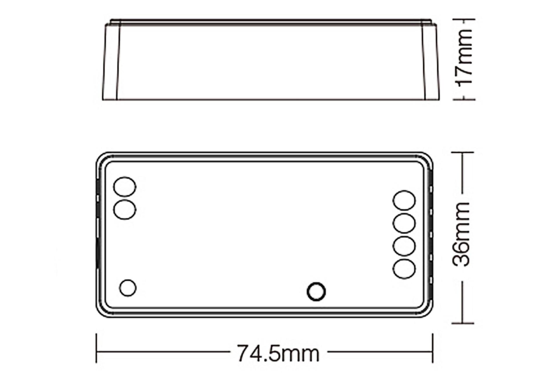 Mi·Light Miboxer enkelkleurige Zigbee 3.0 Dimmer Controller