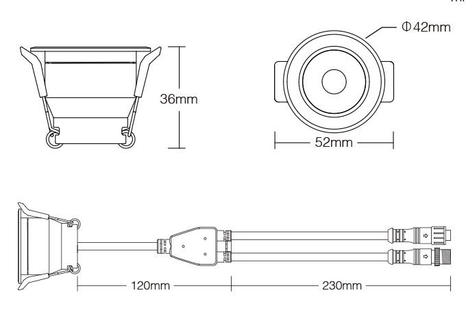Mi·Light Miboxer 3W RGBW Kleur + Warm Wit Mini LED spotje. Waterdicht IP66, 12Volt, Ø 42mm