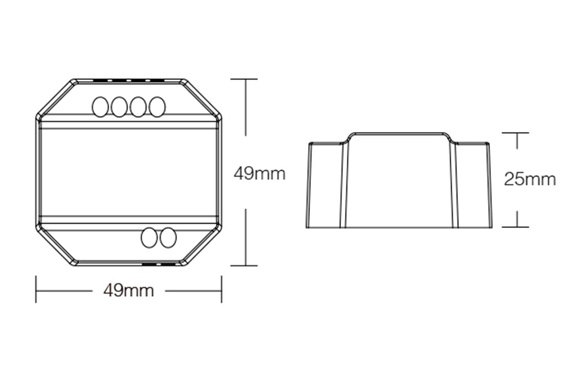 Mi·Light Miboxer 220Volt Triac Dimmer module voor afstandsbediening en drukknop