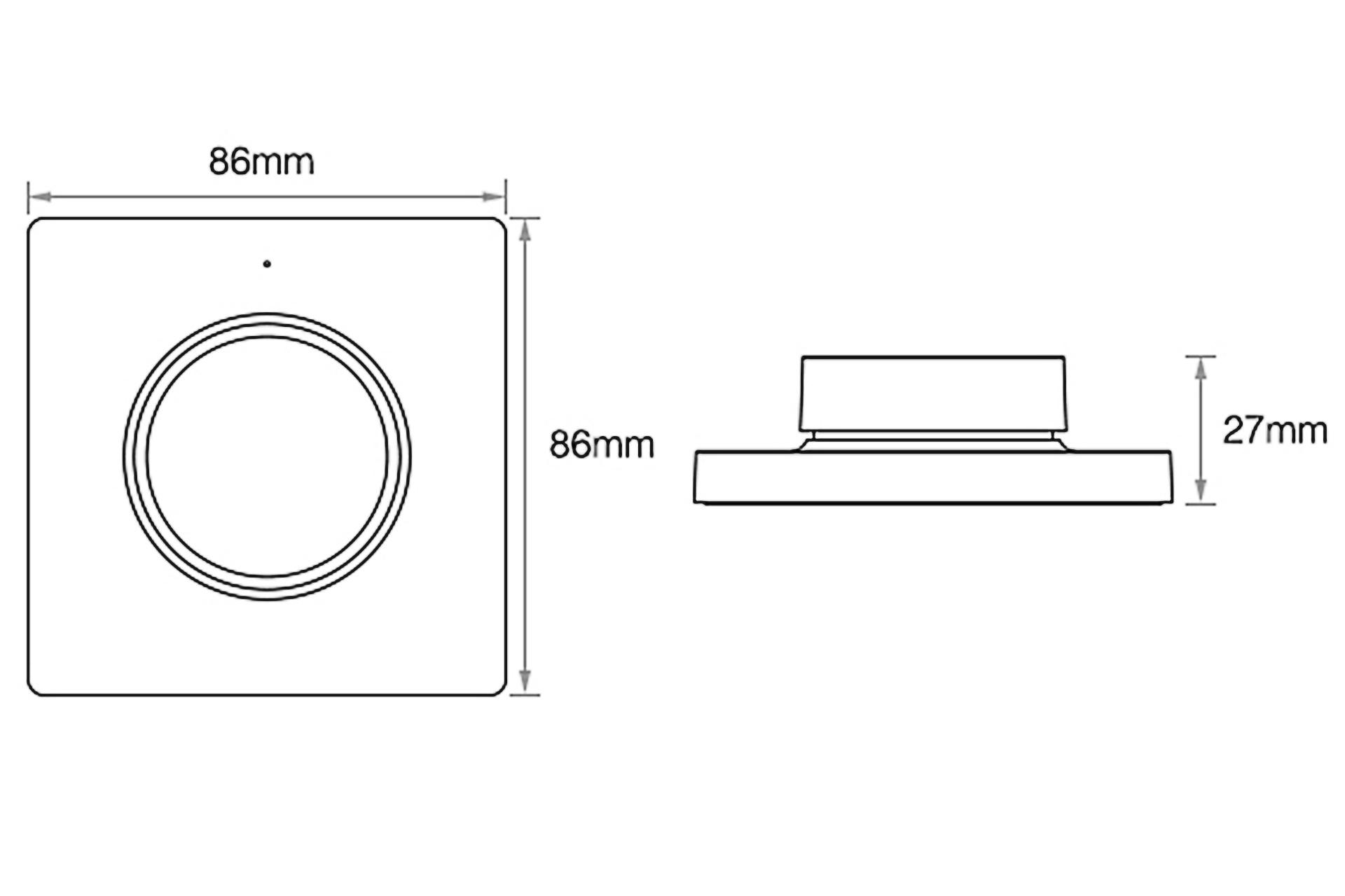 Mi·Light Dual White LED draaiknop muurdimmer