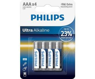 Philips Philips ULTRA Alkaline Batterijen 4-pack AAA 1,5 Volt