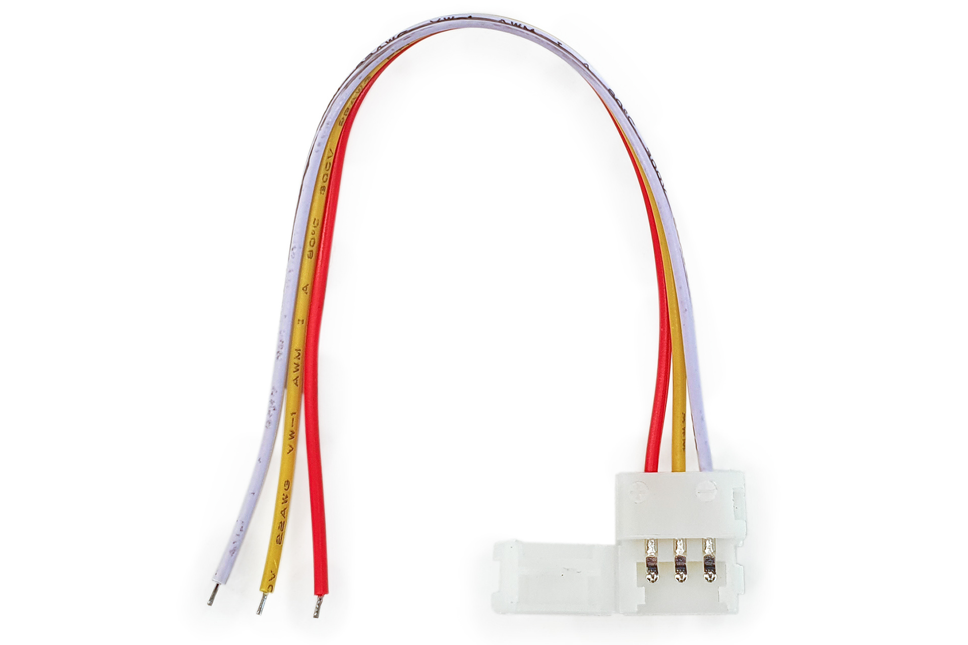 Voedingsconnector voor Dual White CCT Led Strips   Soldeervrij