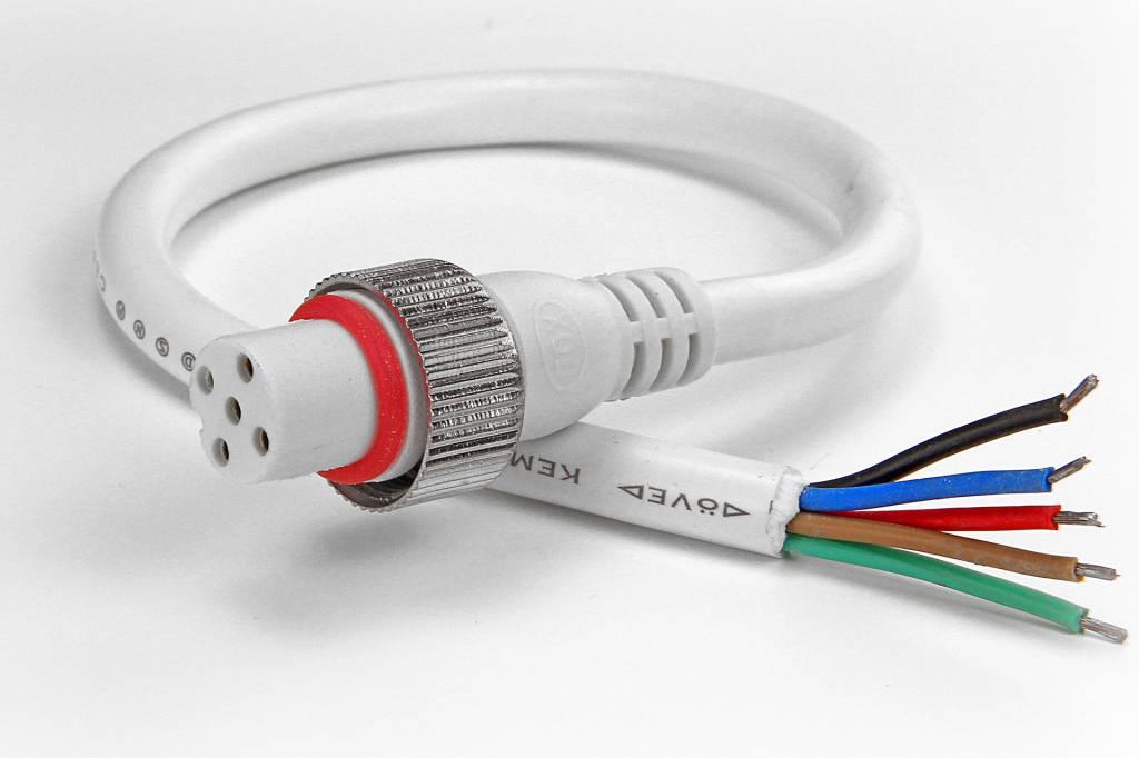 RGBW pigtail 5-pin waterproof IP68