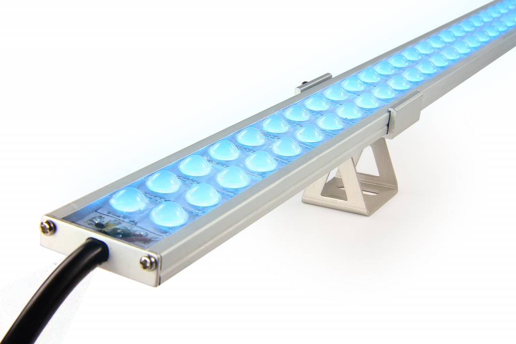 ULTRA WallWasher RGBW Kleur + Warm Wit. Slim Line 90cm dubbele rij 24V. 126 LED's. 37W