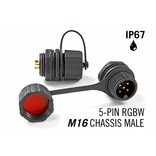 M16 5 Pin Male Chassis Connector IP67 Waterdichte RGBW