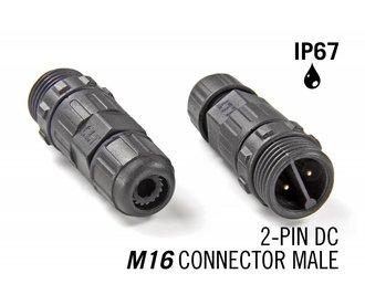 M16 2pin Male IP67 Waterdichte Connector – DC