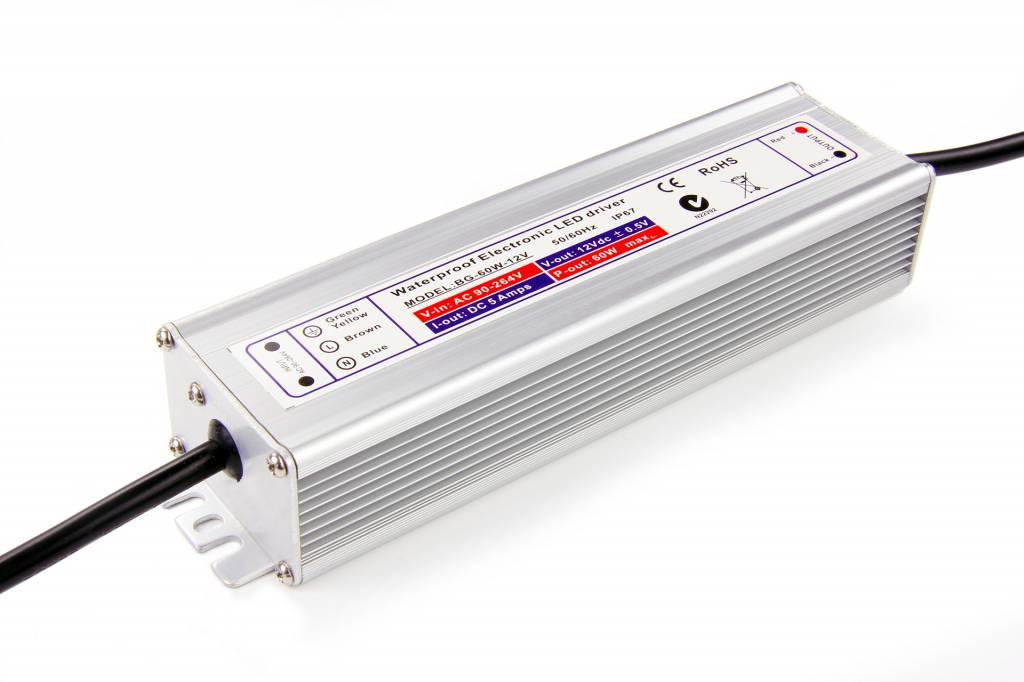 Waterdichte Schakelende Voeding DC 24 Volt 60 Watt 2,5 Ampère IP67