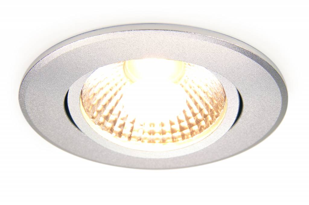 LED Inbouwspot Mi-Light 6W Dual White 220V. 30° Kantelbaar. Zilver Chroom ⌀86mm