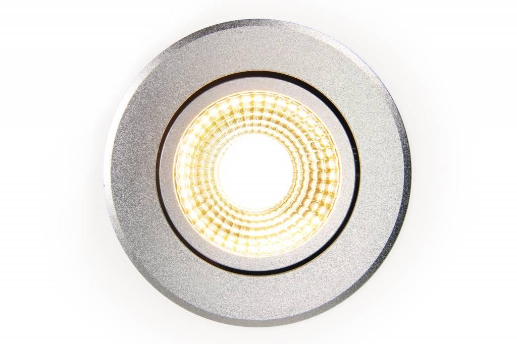 Mi·Light LED Inbouwspot Mi-Light 6W Dual White 220V. 30° Kantelbaar. Zilver Chroom ⌀86mm
