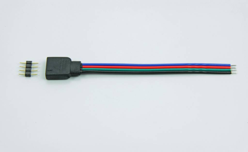 4 Pin Connector voor RGB Led Strips 10cm lang