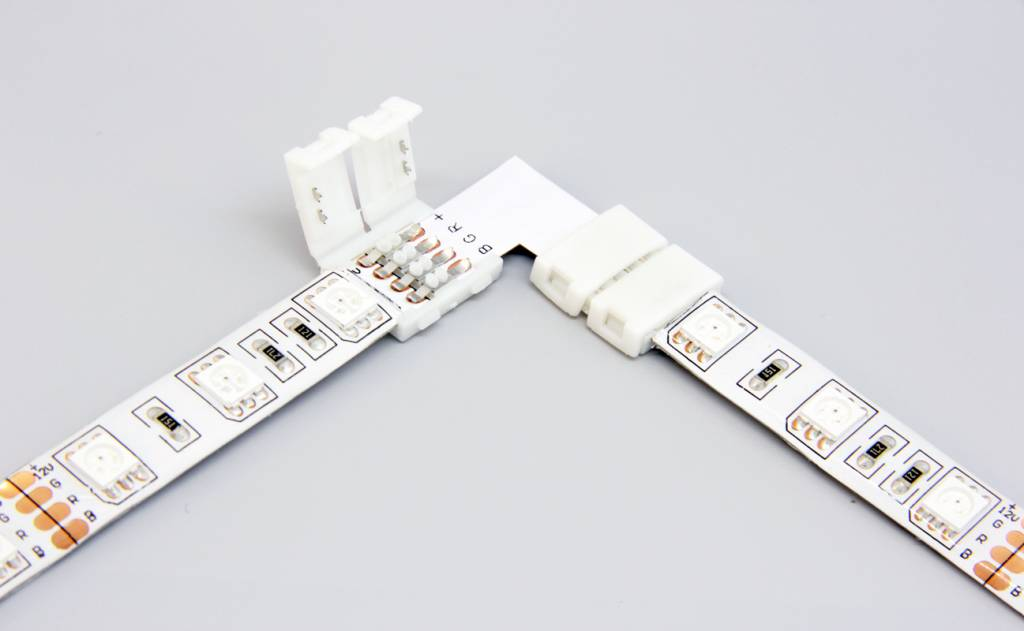 RGB LED strip 90° hoek connector