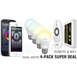 Mi·Light 4 Wifi LED Lampen met Afstandsbediening Mi-Light 6W Dual White E27 Starterskit met Wifi Box
